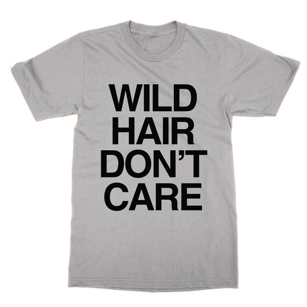 Trend Wild Hair Don'T Care Short Sleeve Zomer T Shirts For Men