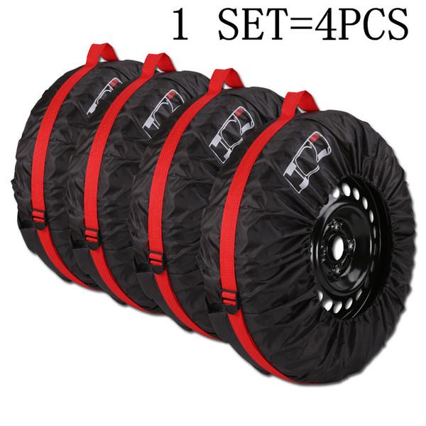 Carcasas de Repuesto Cubierta de neum/áticos Cuero Universal de PVC Negro Impermeable a Prueba de Polvo del Coche Auto del neum/ático