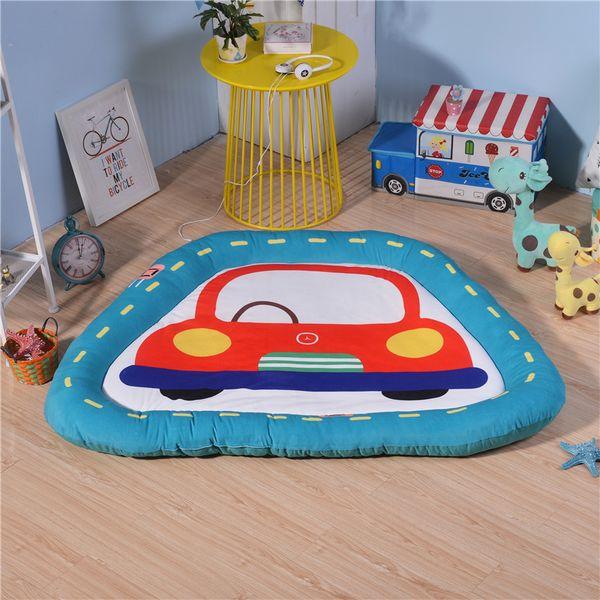Cartoon Car Shape Children ' ;S Seat Baby ' ;S Room Sleeping Pad Kindergarten Children ' ;S Floor Play Mat New Cushion