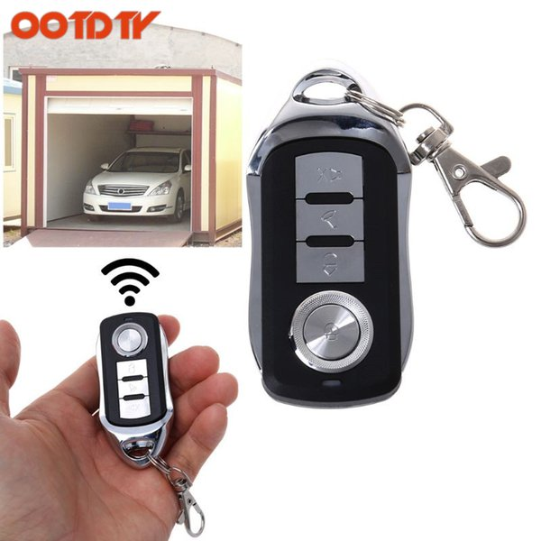 OOTDTY 433MHz/315MHz RF Remote Control 4 Channel Cloning Key Duplicator Button Fob ONE Learning Electric Garage Door Controller