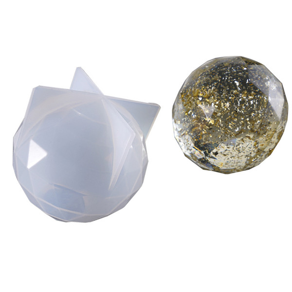 Polygonal Cut Surface Silicone Mold Expoxy Resin Ball Molds Ice Crystal Craft Ball Mould for Home Decoration DIY Jewelry Making Tools