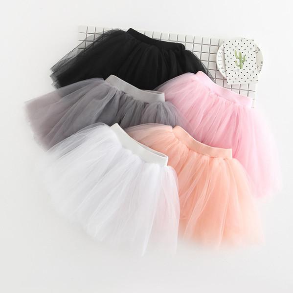 한국어 새로운 공주 스커트 레이스 투투 스커트 짧은 드레스 어린이 의류 파티 스커트 소녀 B11에 대한 댄스 스커트를 선택 5 색