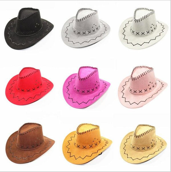 Western cowboy hats Cowgirl Brim Hats kids Straw hat Horseman Caps Men women Summer Outdoor Tourism hats casual hat Mongolia Prairie CLS02