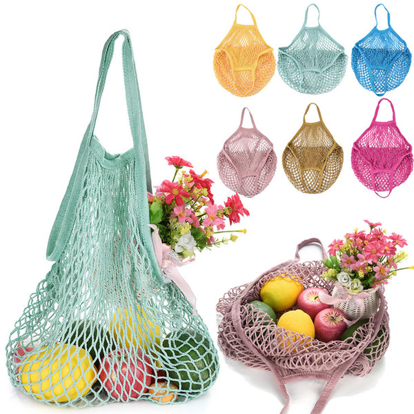 best selling New Mesh Net toto Bag String Shopping Bags Reusable Fruit Storage Handbag Totes Women Shopping Mesh Bag Shopper Bags