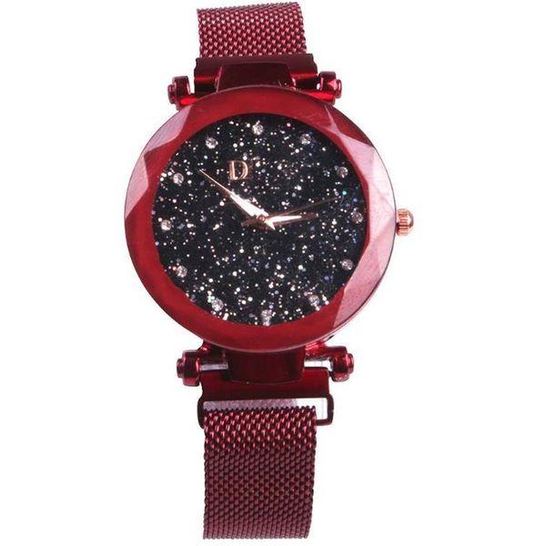 2019 vendiendo señoras superficie superficie reloj magnetita cinturón de cuarzo reloj de cristal de zafiro
