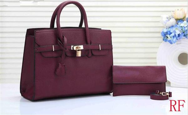 2019 new Hot Sale luxuryHigh qualidade Grande tamanho das mulheres H bolsas de platina Com carteira de pele de couro Genuíno senhora bolsas saco de hardware de ouro