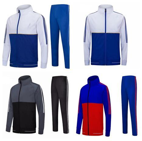 Soccer tracksuit Sport Wear Outdoor Training Suit Blank jacket Without logo customize design Blank Outdoor Apparel Jacket +pants