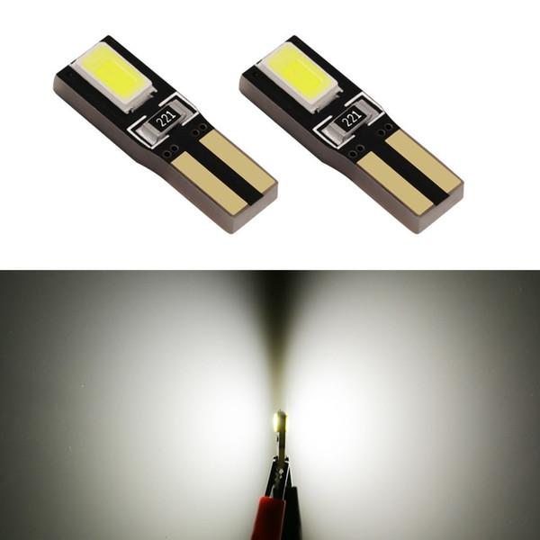 10 pcs Led T5 2721 W3W W2 * 4.6d 5630 SMD Wedge Instrumento Indicador de Luz Da Lâmpada Medidor de Velocímetro Cluster Dash Light 10-15 V DC