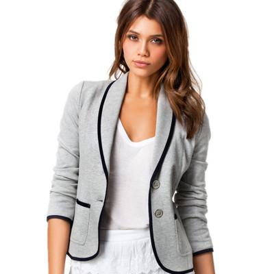 2018 New Women Slim Suit Jacket Casual Wild Fashion Slimming Temperament Small Suit Coat Perfect for Commuter and Work