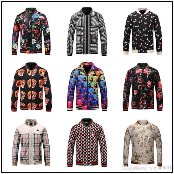 Giacche da uomo progettista 2020 giacche da uomo manica lunga con cerniera maschile di alta qualità in cotone di lusso mens giacche outwear taglia M-3XL