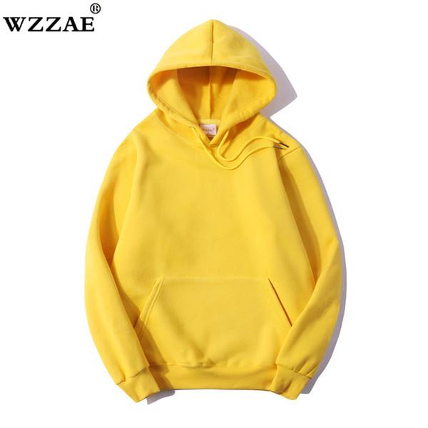 2017 Winter Fleece Solid Basic Hoodies Men Casual Sporting Hombre Sudaderas Cálido 100% Algodón Hoody Hombres Negro Gris Rosa