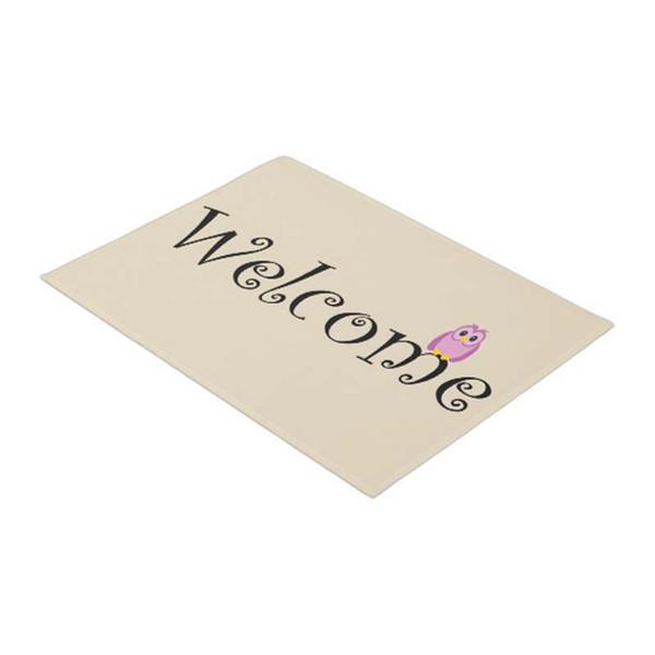 Welcome Owl Mat Home City Rustic Doormat Home Decoration Entry Non-slip Door Mat Rubber Washable Floor