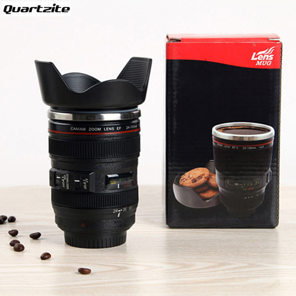 400ML Creative Cups and Mugs Gift Hot sales 24-105mm 3rd Camera Lens Cup 1:1 Stainless Steel Coffee Tea Cup C18112301