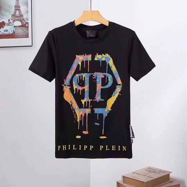 17 stil Orijinal Alman Marka erkek Kısa Kollu T-shirt Moda Suç tasarımcı Kafatası Hip Hop Yüksek Kaliteli Baskı Medusa T-shirt