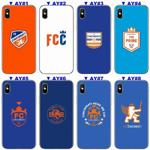 [TongTrade] Luxury Case For iPhone X 8 7 6s 5s Plus Cincinnati FC Soft Silicone TPU Coloured Painting Galaxy S9 S8 S7 S6 Edge Plus Case