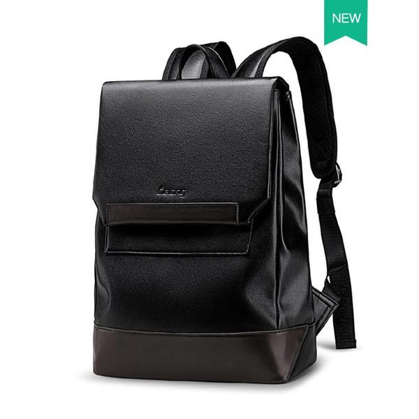 Leather Bookbags For Men Backpack Trend Casual Simple Backpack Men's New travel Bag Leather Computer Bag Men School Bag
