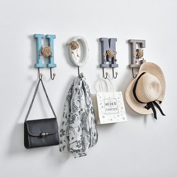 Wandbehang Schlüsselhaken Alphanumerische Wandbehang Wanddekoration Kleiderbügel Kleinigkeiten