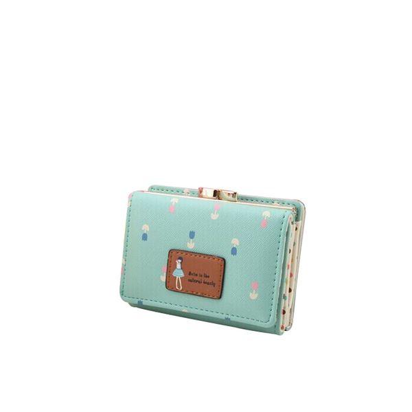 MOLAVE Wallets & Holders short women wallet new Korean Cute Three layer package Leather Slim Mini purse print Zipper & Hasp 9409