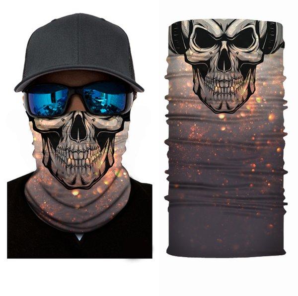 GPFORTYSIX Fashion Skull Balaclava Moto Mascarilla Moto Paintball Ciclismo Bicicleta Ski Army Casco Protección Mascarilla facial