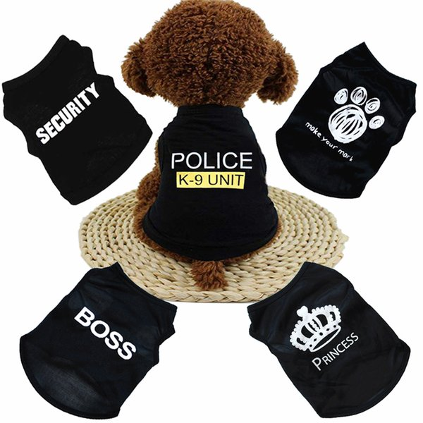 DHL Free New Summer Dog Clothes Apparel Cat Vest Small Sweater Pet supply Cartoon Clothing t shirt For Puppy Chihuahua Cheap Jumpsuit Outfit