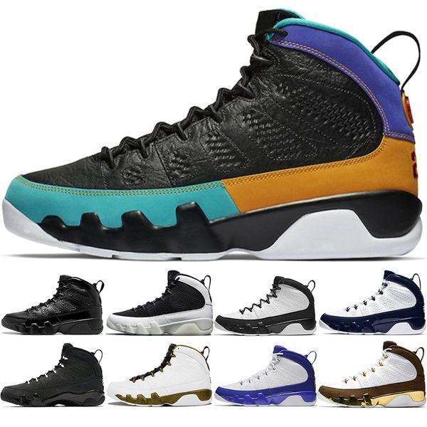 Acheter Nike Jordan Air Retro 9s Chaussure De Basket Ball 9 Hommes UNC Marine Bleu Rêve Le Faites Le Race LA Oreo Tour Jaune Athlétique Formateur