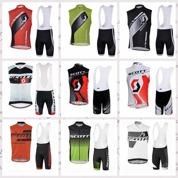SCOTT cyclisme sans manches jersey gilet cuissard ensembles Nouveaux hommes sports résistant à l'usure respirant confort vêtements de vélo costume s52145