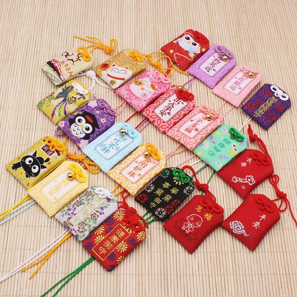1pcs Traditional Omamori night owl Maneki Neko phoenix Dispel Misfortune Lucky Omamori Key Holder Bag Pendant Cute Gift Present