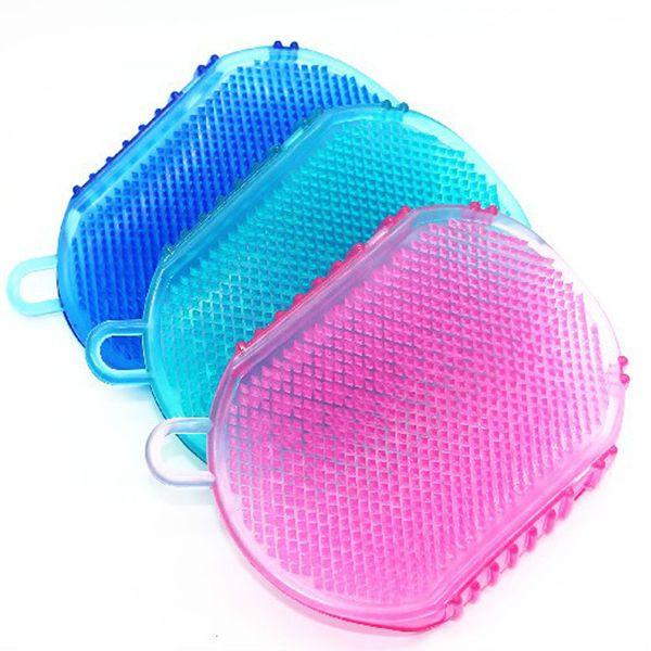 best selling Bath Gloves Exfoliation Shower Bath Brush For Body Cleaning Silicone Exfoliating Brush Scrubber Bath Scrub Glove Spa