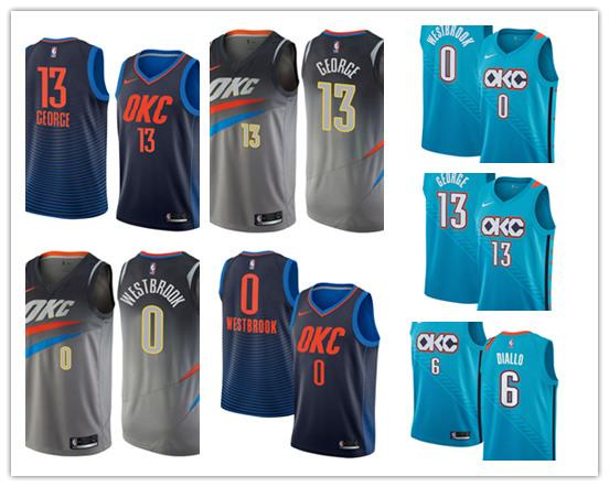 size 40 f4ad8 aa7e6 2019 Mens Oklahoma City Russell 0 Westbrook Thunder Jersey Paul 13 George 6  Hamidou Diallo Basketball Funny T Shirts For Women Funny Shirt From ...