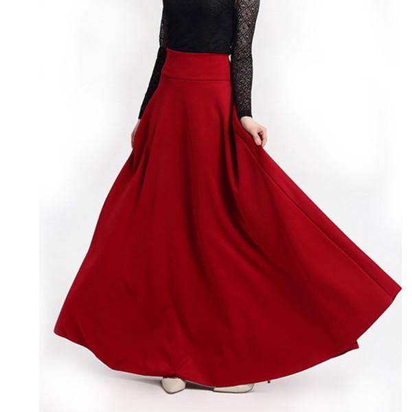 Compre Faldas Informales Solidas Tallas Grandes 5xl Ropa De Otono Elegante Falda Larga Roja Roja Fiesta De Noche Clud Oficina De Moda Femenina Damas Mx190730 A 32 84 Del Buyocean05 Dhgate Com