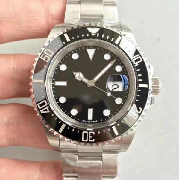 Assista Venda quente para mens 116610 Homens Automatic Alça Aço Inoxidável Sapphire Todos os Cerâmica moldura preta dos homens Relógios de pulso frete grátis
