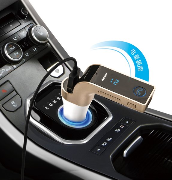 G7 Coche Inalámbrico Bluetooth MP3 Transmisor de FM L Modulador de diseño 2.1A Cargador de coche Kit inalámbrico Soporte para manos libres Micro SD 50pcs