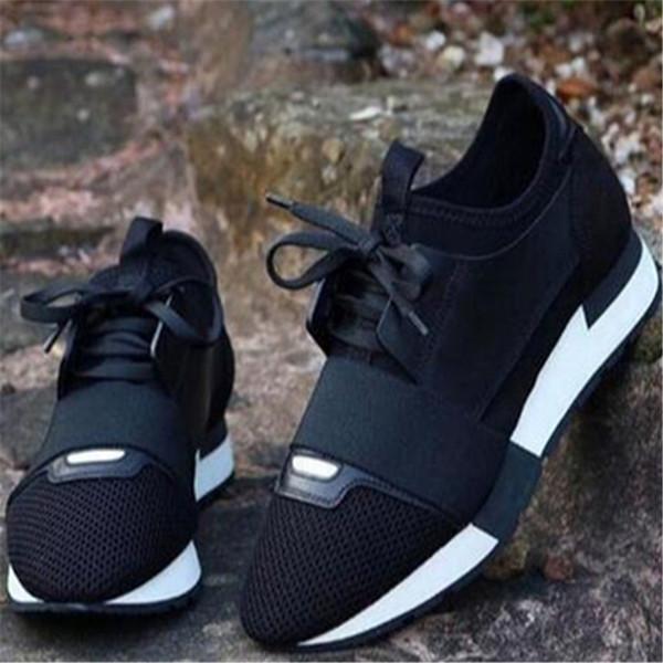 Clásica marca con las zapatillas de deporte de los hombres de moda cuero de calidad superior de malla para mujer para hombre del instructor Carrera Participantes Zapatos