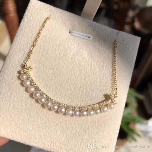18k gold necklace+box