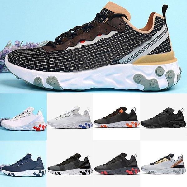 2019 Erkek Koşu Ayakkabıları Shoes Erkek Eğitmenler Eleman 55 Reaksiyon Reaccover X Gelecek Tasarımcı Spor Ayakkabı Sneakers Boyutu 40-45