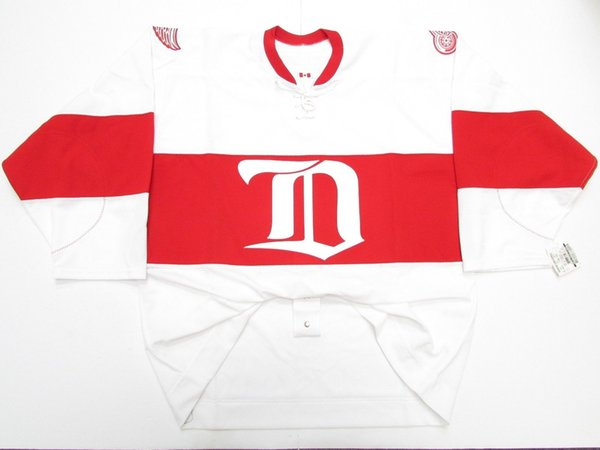 Cheap custom DETROIT RED WINGS WHITE WINTER CLASSIC ALUMNI CCM 6100 JERSEY stitch add any number any name Mens Hockey Jersey XS-5XL