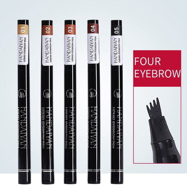 Eyebrow Pen Four Head eyebrow pencil Eyebrow Pencil Waterproof Fork tip Ink Pen Four Heads LJJW176