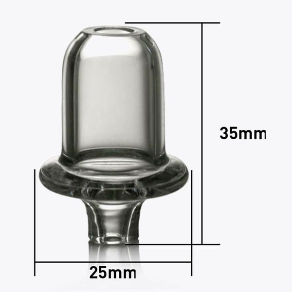 Yeni UFO ile Mini Kuvars Carb Cap Dabber Kalın Qaurtz Kubbeli Tepe Eklemek için elastik Kapaklar e-sigara Vaper Cam Su Sigara Boru
