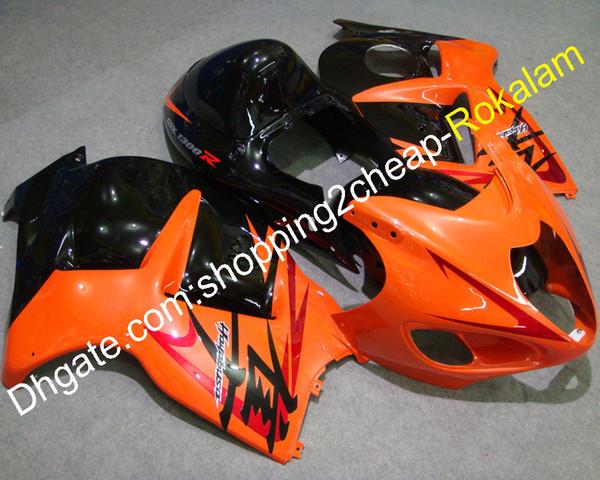 99-07 GSXR1300 Hayabusa-Verkleidungen für Suzuki GSXR-1300 GSXR 1300R 1999-2007 Orange Schwarzes Karosserie-Komplett-Verkleidungsset