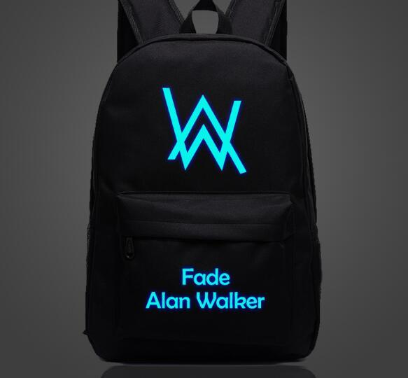 Luminous Allen Wokla chain bag bag with the backpack audio DJ tide brand student backpack neutral / men and women can