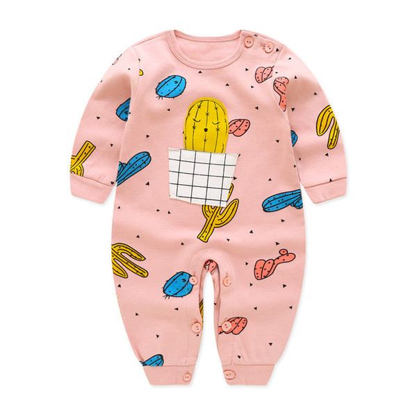 good quality Newborn Baby Rompers Clothing Infant Baby Spring Autumn Fashion Pajamas Toddler Cotton Jumpsuit Bebe Sleepwear