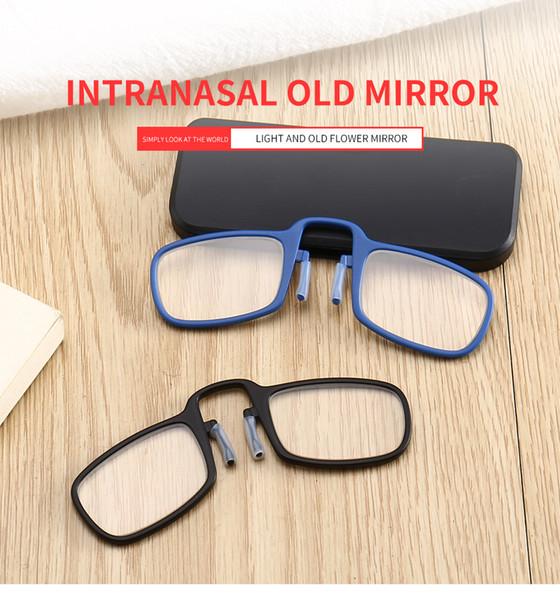 Tatyking Lunettes Folding Lunettes de lecture Nouveau mode clip Nez personnalité Portable Old Light Mirror PH0231
