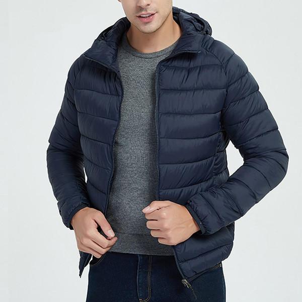 Estilo de la chaqueta de los hombres otoño invierno peso ligero abrigo de vestir exteriores caliente de poliéster chaqueta hombre al por mayor de la chaqueta de los hombres ocasionales