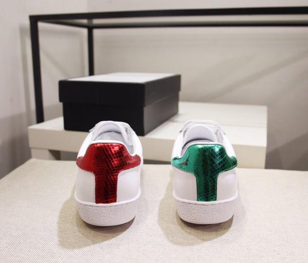Küçük Arı moda lüks tasarımcı ayakkabı Loafer'lar Moda Nakış Düşük Kesim Beyaz Rahat Düz Ayakkabı Unisex ücretsiz kargo
