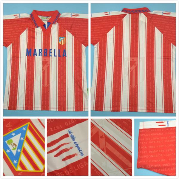 top popular free shopping top quality 1996 Club Atlético home retro jerseys CLASSIC jersey 14#SIMEONE 2020