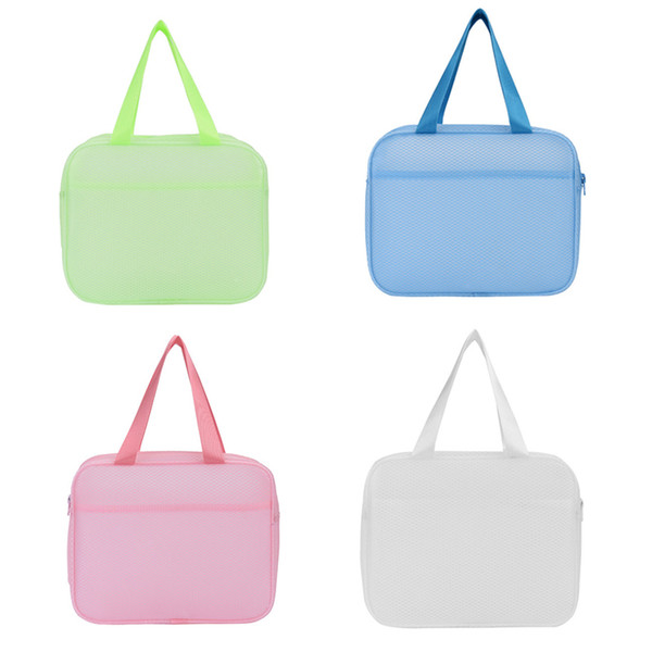 Thick Toiletry Organizer Bag Bathing Tote Storage Bag for Swimming Women Cosmetic Pouch Waterproof Transparent PVC Travel Beach Bag