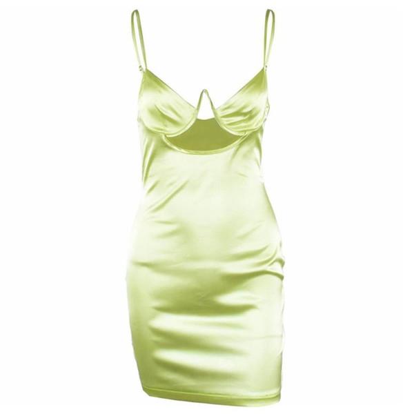 2019 Art und Weise Frauen Beleg-Kleid-Verpackungs-Kasten aushöhlen Bodycon High Waist Slim Fit Kleidung