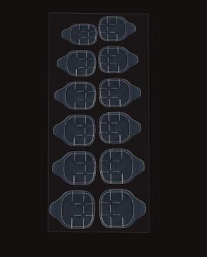 12 décalques par feuille