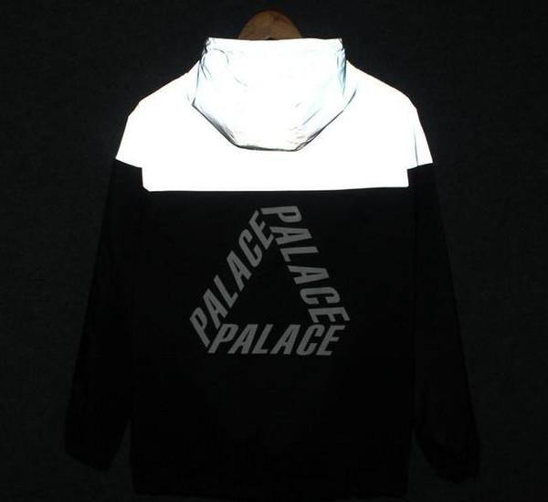 best selling S-3XL Men jacket casual hiphop windbreaker 3m reflective jacket tide brand men women lovers sport coat Cat hooded fluorescent clothing