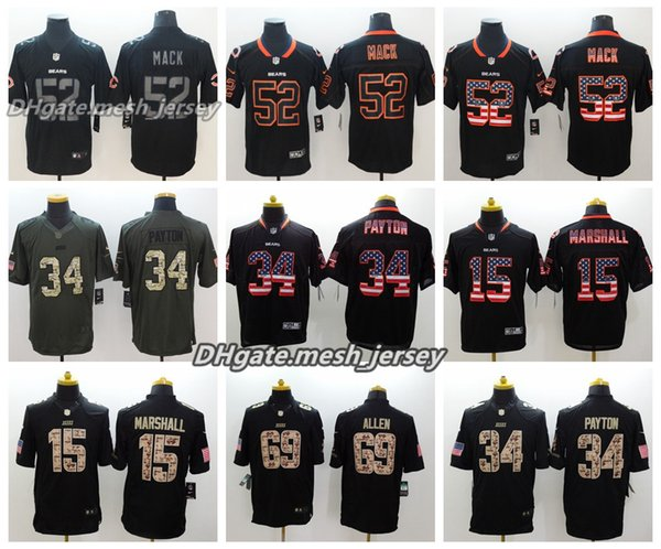 big sale a1afd a29f4 Men Chicago Bears Jersey 34 Walter Payton 52 Khalil Mack 15 Brandon  Marshall 69 Jared Allen Color Rush Football Jerseys UK 2019 From  Good_jersey666, ...